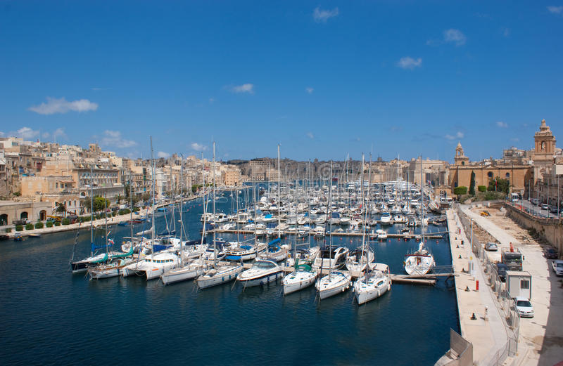 Download Yacht harbour in Birgu stock photo. Image of summer, boats - 19560816