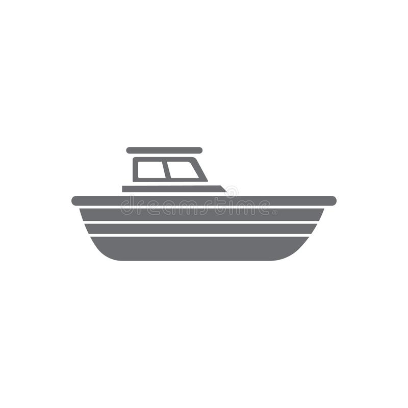 Yacht icon. Simple element illustration. Yacht symbol design from Transport collection set. Can be used for web and mobile. On white background vector illustration