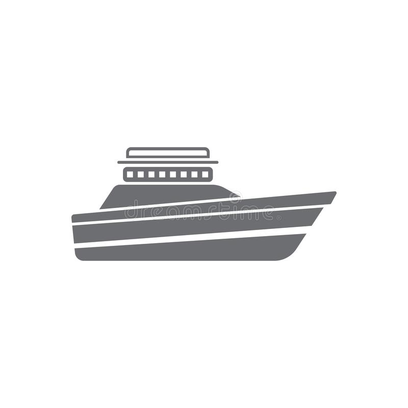 Yacht icon. Simple element illustration. Yacht symbol design from Transport collection set. Can be used for web and mobile. On white background royalty free illustration
