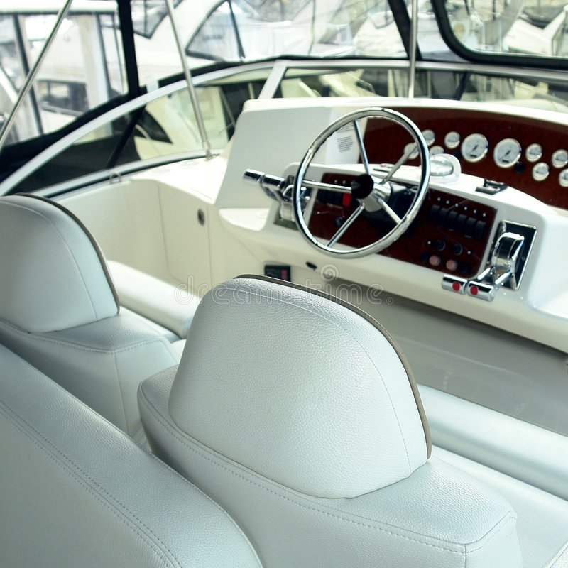 Yacht-Innenraum lizenzfreie stockfotos