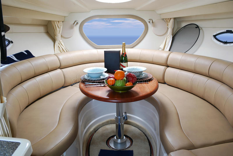 Download Yacht interior stock image. Image of table, boat, elegance - 13698335