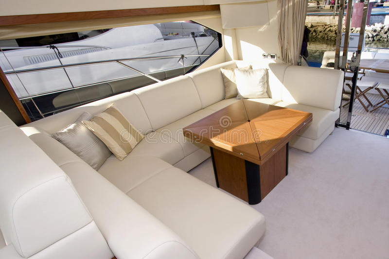 Yacht interior stock images