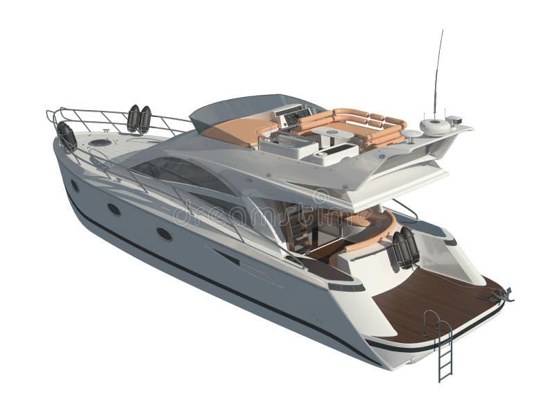 Yacht isolated on white background 3D illustration royalty free illustration