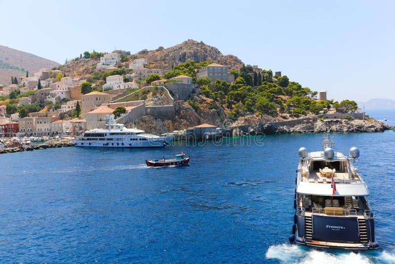 Yacht - isole della Grecia fotografie stock libere da diritti