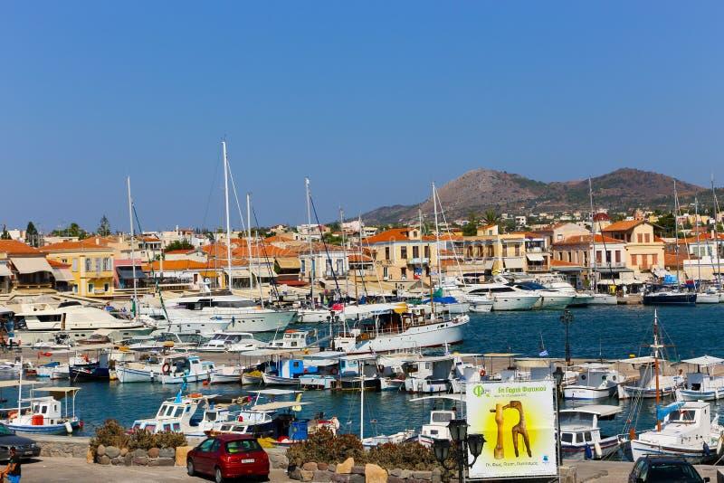 Yacht - isole della Grecia immagine stock