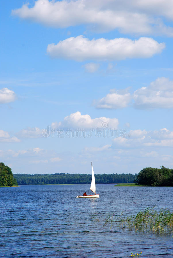 Download Yacht on the lake stock photo. Image of navigation, drifting - 13945694