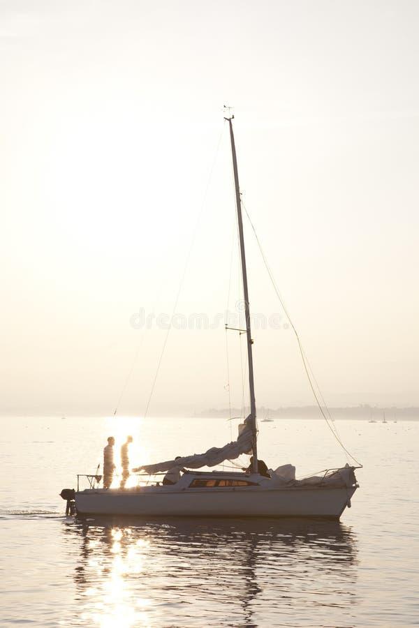Yacht On Lake Geneva Stock Image