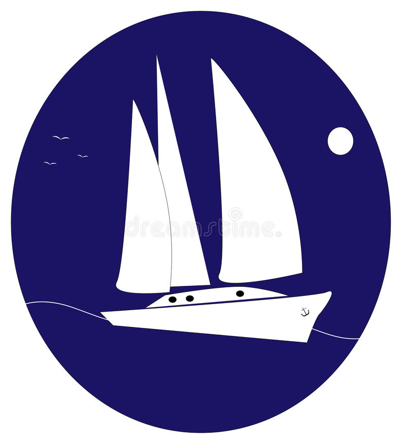 Yacht logo stock illustration