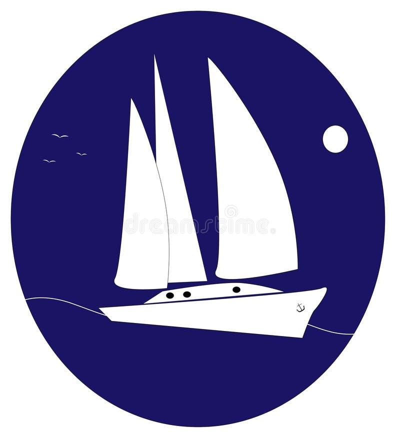 Yacht logo royalty free stock images