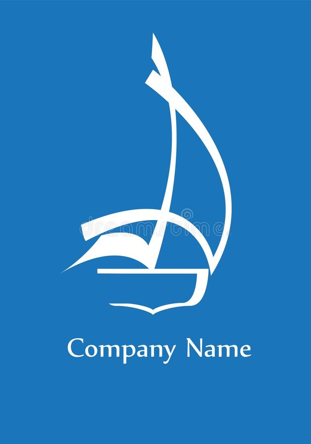Yacht logo stock photo