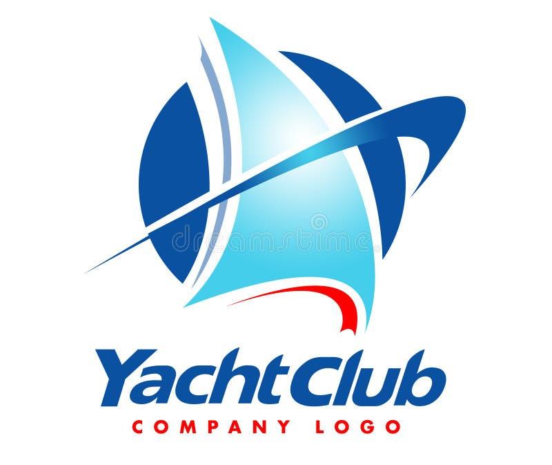 Yacht-Logo stock abbildung