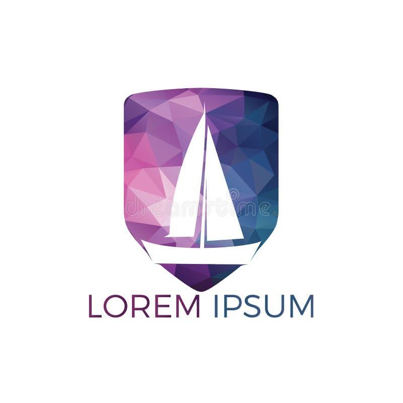 Yacht Logo Design Conception de logo de vecteur d'équipe de sport de club ou de yacht de plaisance illustration stock