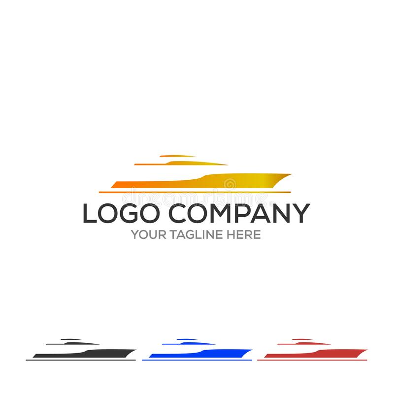 Yacht logo. Simple illustration of yacht vector icon for web stock illustration