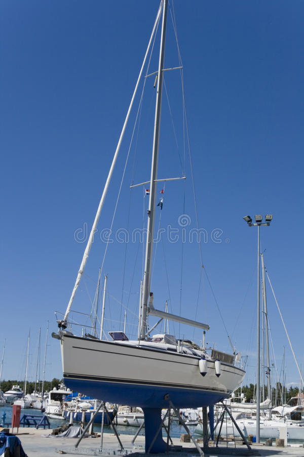 Download Yacht in maintenance stock photo. Image of hull, yacht - 10541064