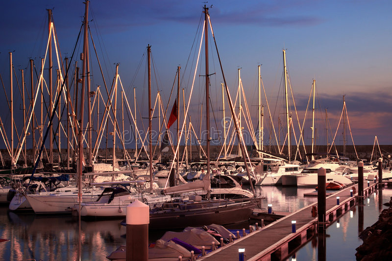 Download Yacht Marina stock image. Image of evening, colourful - 7765023