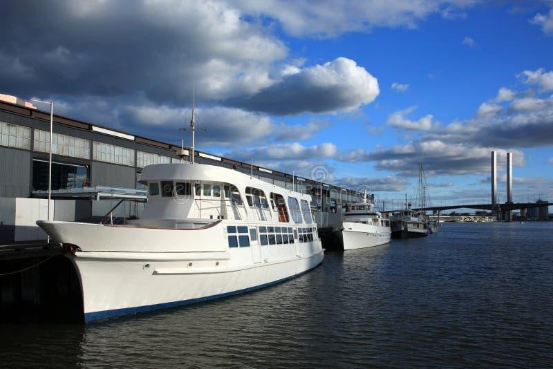 Yacht,Melbourne City stock photo