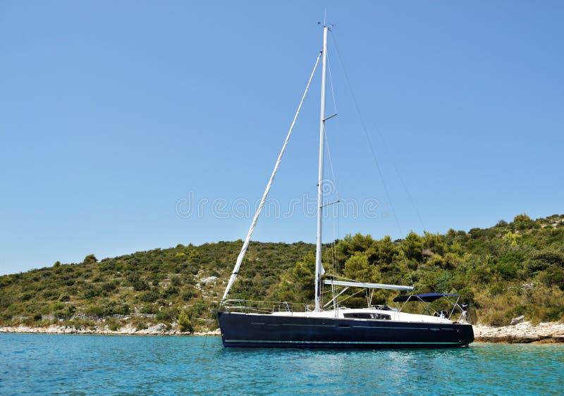 Yacht moderne photographie stock libre de droits