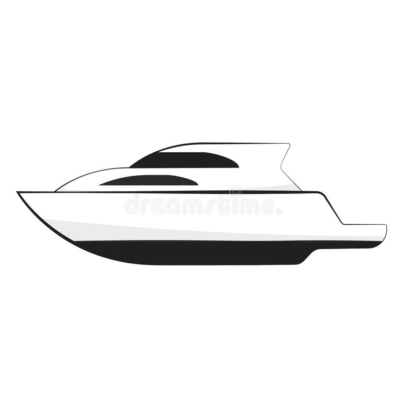 Yacht motor boat icon stock illustration