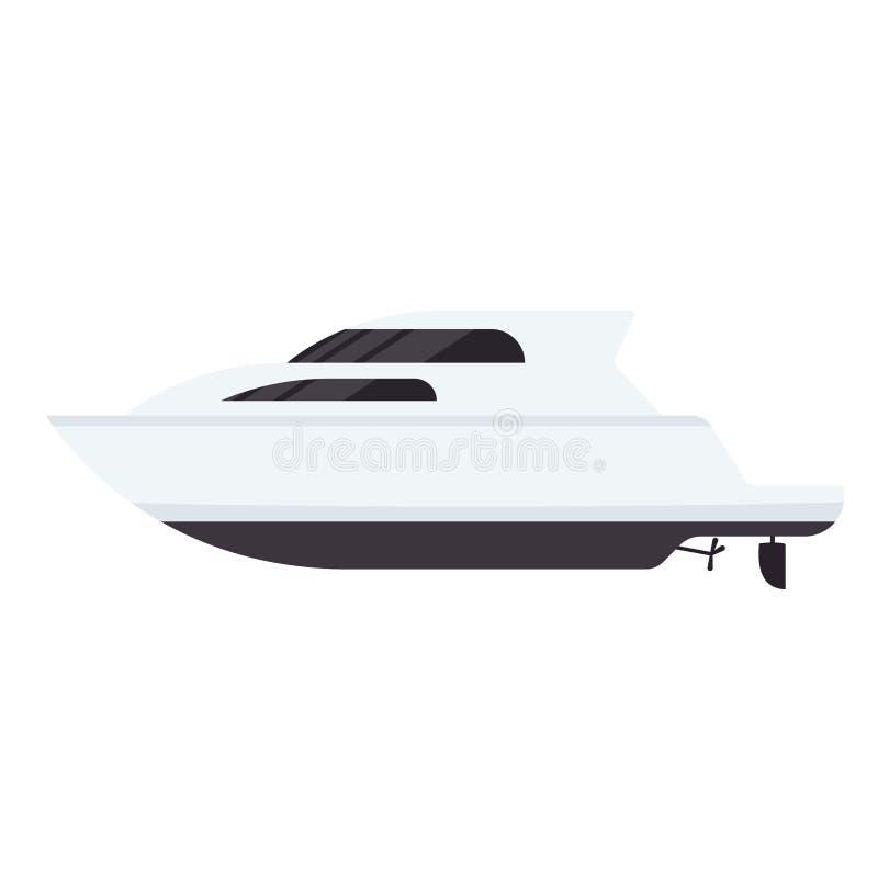 Yacht motor boat icon vector illustration
