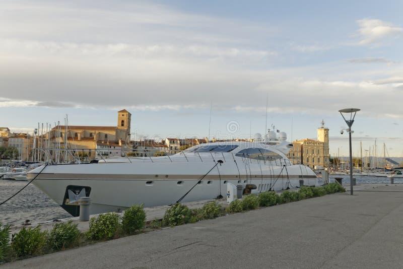 Yacht nel porto di Ciotat della La fotografia stock libera da diritti