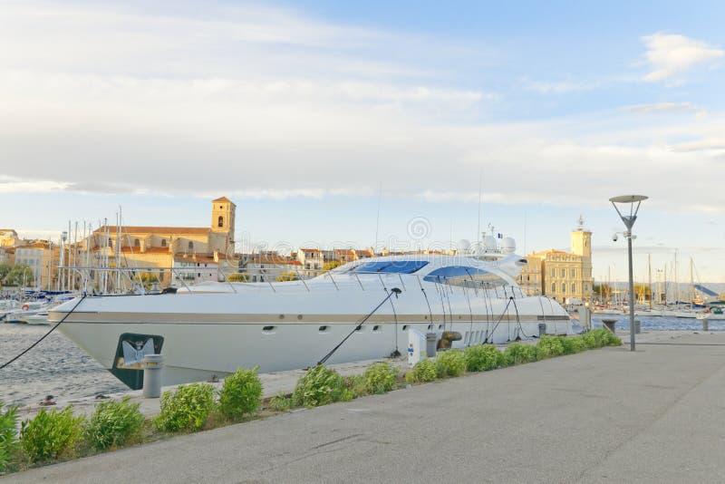 Yacht nel porto di Ciotat della La fotografia stock