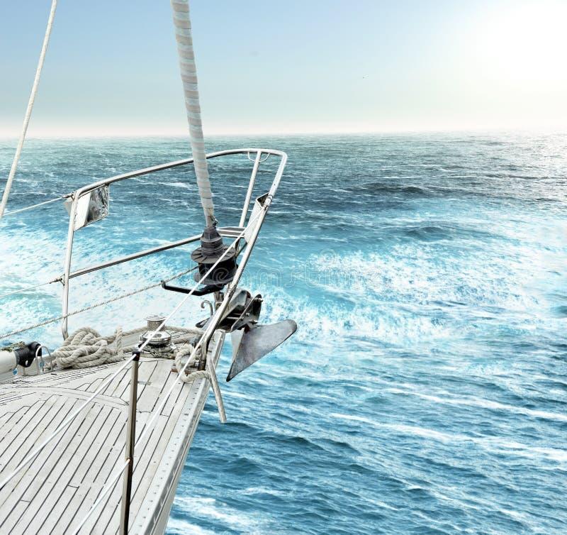 Yacht nell'oceano immagini stock libere da diritti