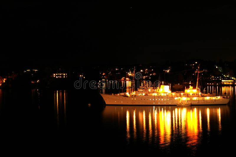 Download Yacht on the night seas stock photo. Image of nighttime - 3460882