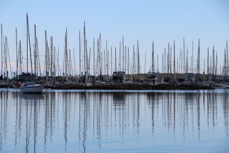 Yacht o porto foto de stock