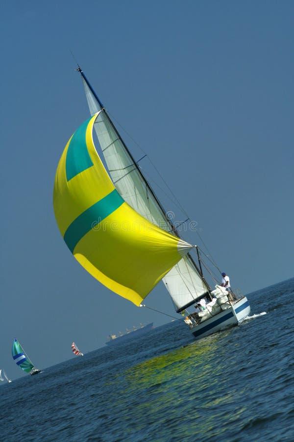 Yacht o vencedor fotos de stock