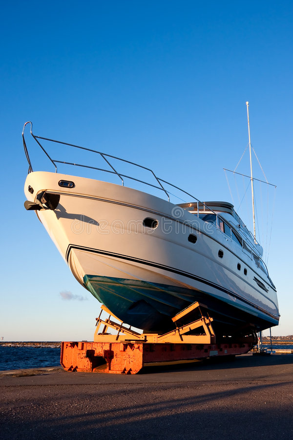 Download Yacht out of the water stock photo. Image of harbour, anchor - 8837168