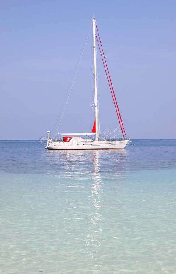 Yacht In Paradise Royalty Free Stock Photo