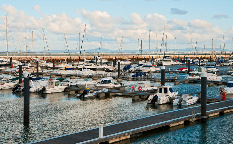Download Yacht Parking stock image. Image of sunny, river, wall - 25096043