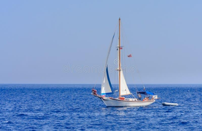 Yacht Paysage marin La Grèce image stock