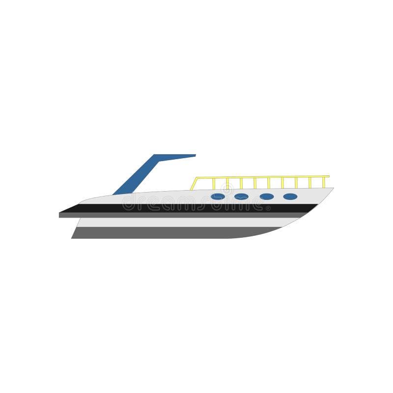Yacht plat, bateau, cargo illustration de conception de vecteur illustration libre de droits