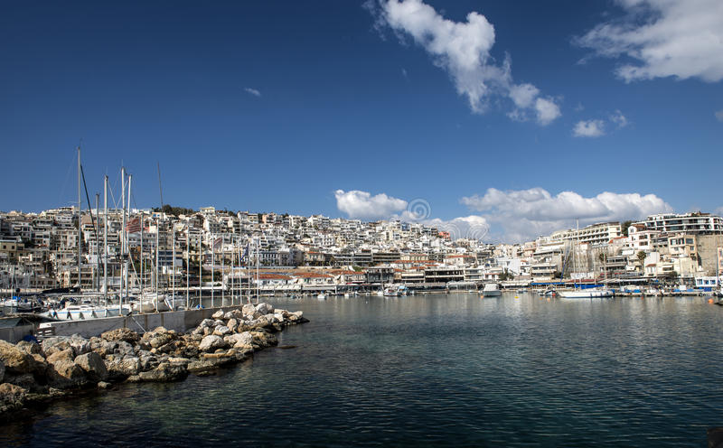 Yacht port in athens royalty free stock image