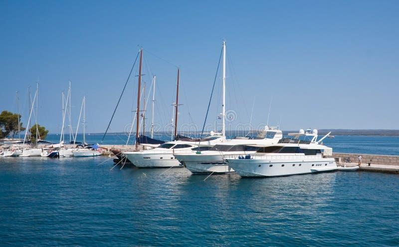 Yacht port. Brijuni. Croatia stock photo