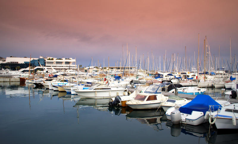 Yacht port,Cannes France royalty free stock photos
