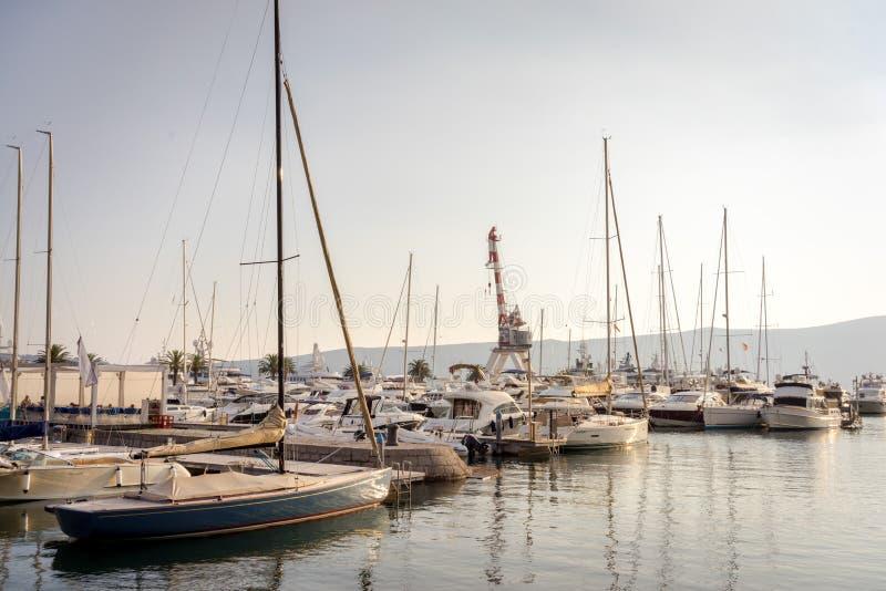 Yacht in porto immagine stock libera da diritti