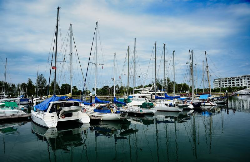 Download Yacht at quay editorial stock image. Image of nautical - 43084299