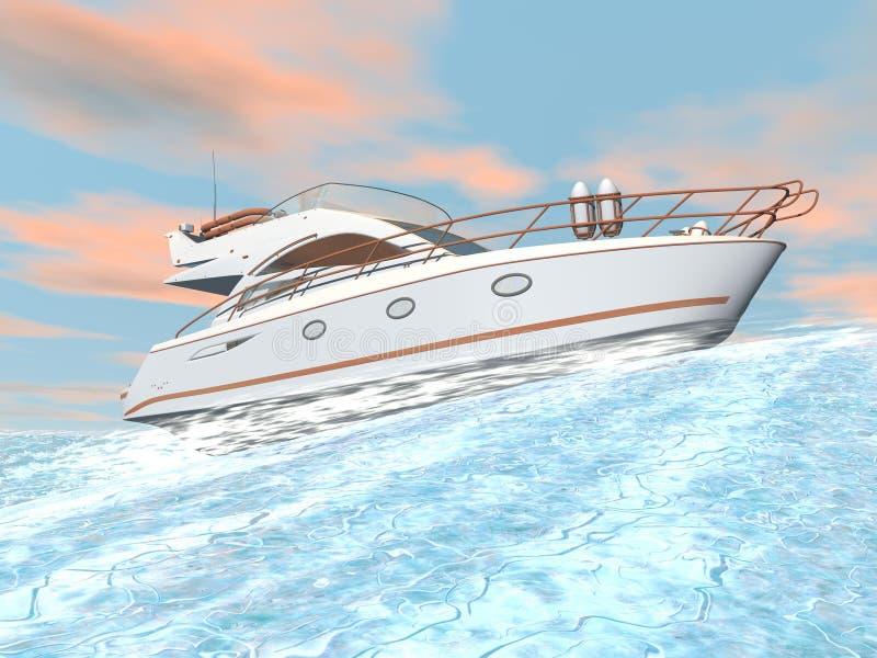 Yacht rapide - 3D rendent illustration stock