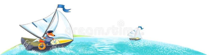 Yacht. Regatta lizenzfreie abbildung