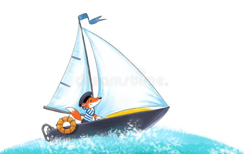 Yacht, Regatta. vektor abbildung