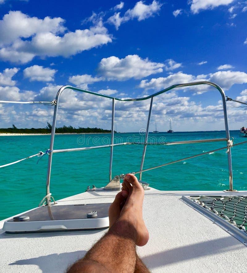 Yacht relax stock photos