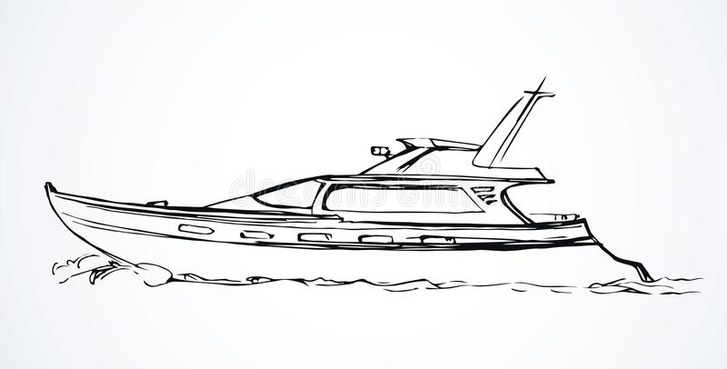 Yacht Retrait de vecteur illustration de vecteur