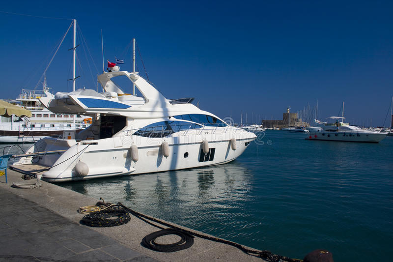 Download Yacht In Rhodes Harbour Stock Photos - Image: 21344393