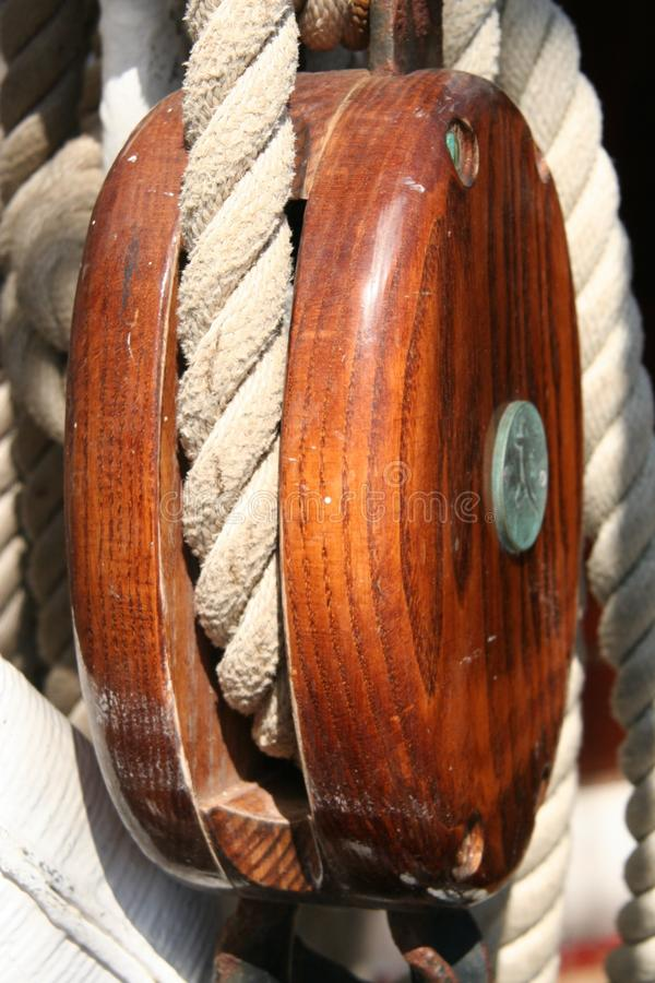 Yacht rigging stock photo