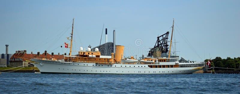 Yacht royal Copenhague de monarchie danoise photographie stock