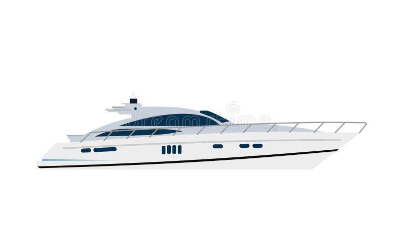 Yacht sailboat or sailing ship, stock illustration