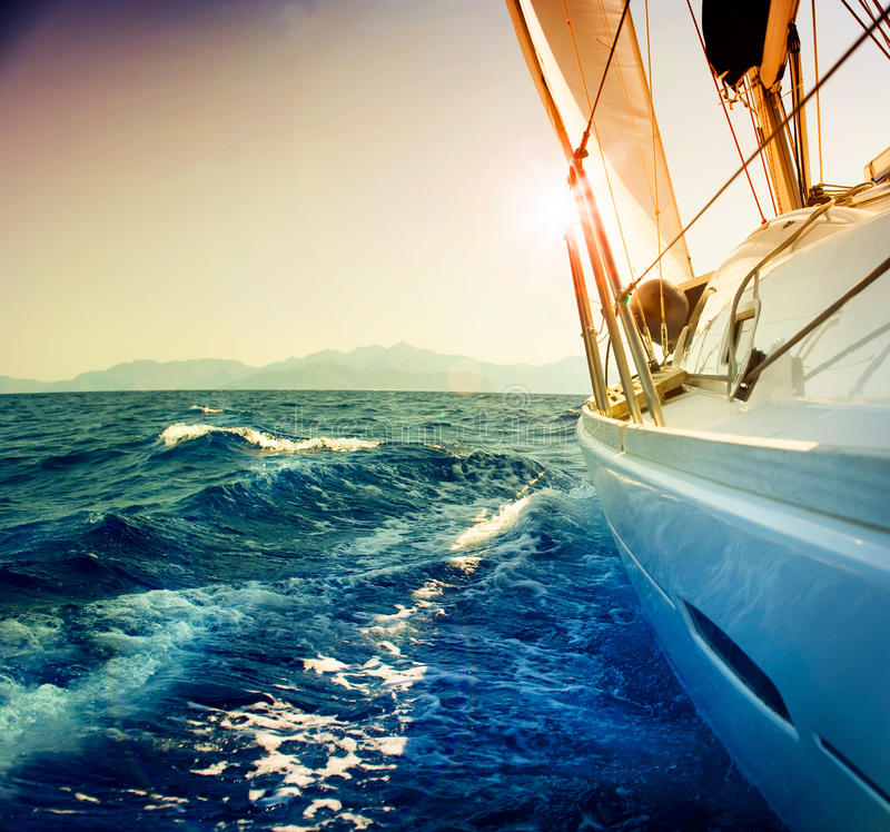 Yacht Sailing Stock Image