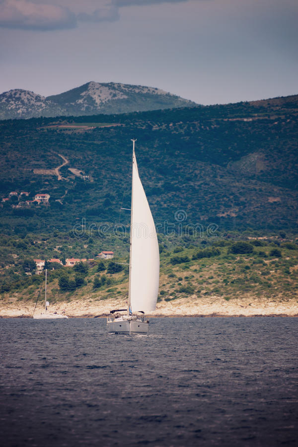 Download Yacht Sailing In Adriatic Stock Photo - Image: 42162983